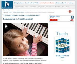 2 Escuela Infantil de introducción al Piano: Secuenciación ó ¿Cuándo enseñar?