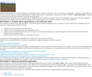 Agriculturización y cultivo de la soja
