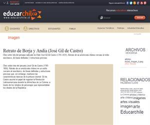 Retrato de Borja y Andía ( José Gil de Castro) (Educarchile)