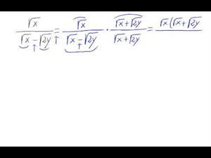 Racionalización (Con sumas o restas de raíces en denom.)