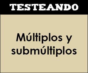 Múltiplos y submúltiplos. 3º Primaria - Matemáticas (Testeando)