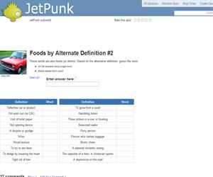 Foods by Alternate Definition 2