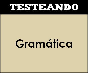 Gramática. 4º ESO - Lengua (Testeando)