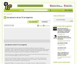 Uso educativo de las TIC en Argentina (Edu3.cat)