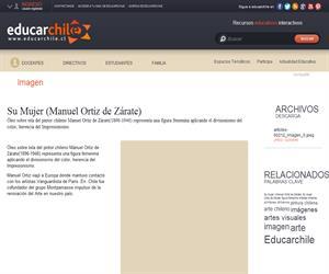 Su Mujer (Manuel Ortiz de Zárate) (Educarchile)