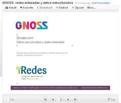 Presentación de gnoss.com en iRedes, I Congreso Iberoamericano sobre Redes Sociales