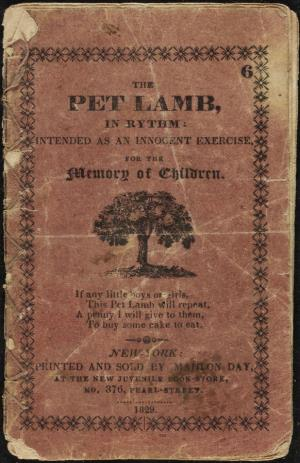 The pet lamb, in rhythm: Intended as an innocent exercise for the memory of children (International Children's Digital Library)