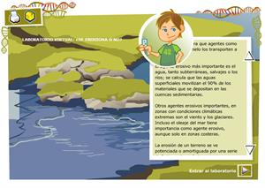 Laboratorio virtual: ¿se erosiona o no?  Biología y Geología para 4º de Secundaria