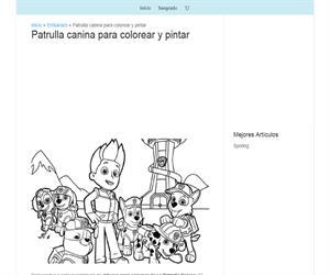 Dibujos de la patrulla canina para colorear
