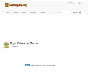 Sopa de Países del Mundo (educaplus.org)
