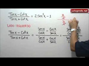 Demostración de una identidad trigonométrica (JulioProfe)