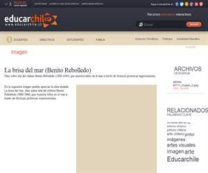 La brisa del mar (Benito Rebolledo) (Educarchile)