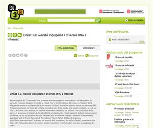 Linkat 1.0, Marató Viquipèdia i diverses ONG a internet (Edu3.cat)