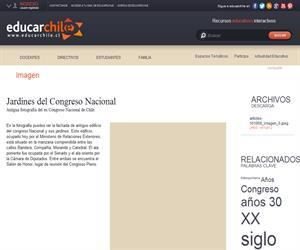 Jardines del Congreso Nacional (Educarchile)