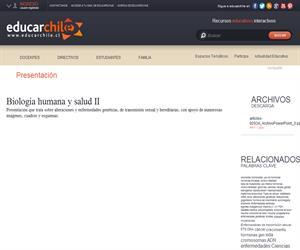 Biología humana y salud II (Educarchile)