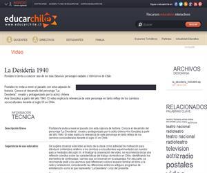 La Desideria 1940 (Educarchile)
