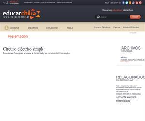 Circuito eléctrico simple (Educarchile)