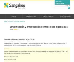Simplificación y amplificación de fracciones algebraicas