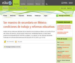 Ser maestro de secundaria en México: Condiciones de trabajo y reformas educativas