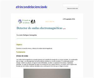 Detector de ondas electromagnéticas