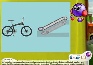 Máquinas compuestas: biclicleta y escalera mecánica (Mestre a Casa)