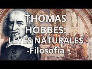 Thomas Hobbes. Leyes Naturales