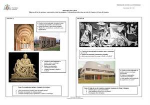 Examen de Selectividad: Historia del arte. Asturias. Convocatoria Junio 2013