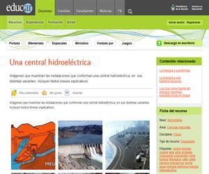 Una central hidroeléctrica