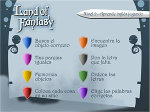 Land of fantasy (Nivel 2). Aprende inglés jugando