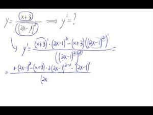 Derivada - Cociente y potencias de polinomio