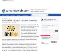 Tendencias tecnológicas en periodismo. Amy Webb's Top Tech Trends for Journalism (Semantic Web)