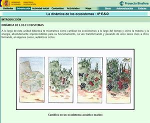 La dinámica de los ecosistemas: unidad de Biología y Geología de 4º ESO (proyecto Biosfera)
