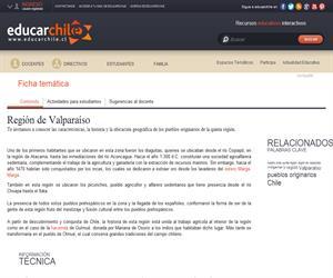 5ta Región Pueblos Originarios (Educarchile)