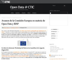 Open Data @ CTIC » Avances de la Comisión Europea en materia de Open Data y RISP