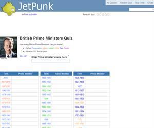British Prime Ministers Quiz