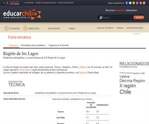 10ma Región Estadísticas (Educarchile)
