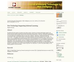 Las nuevas tecnologías como soporte del aprendizaje informal (Informal Learning)