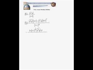Derivada - cociente de polinomios