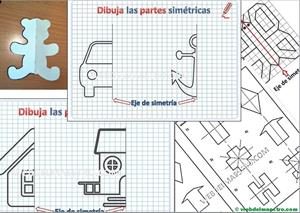 Simetrías. Construcción de figuras simétricas respecto a un eje. Editorial Anaya