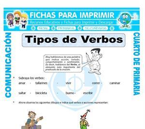 Tipos de verbos (ficha para imprimir)