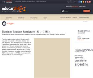 Domingo Faustino Sarmiento (1811 - 1888) (Educarchile)