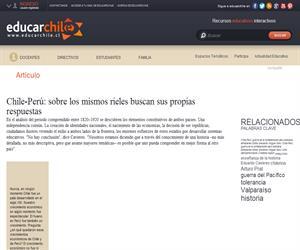 Chile-Perú: sobre los mismos rieles buscan sus propias respuestas (Educarchile)