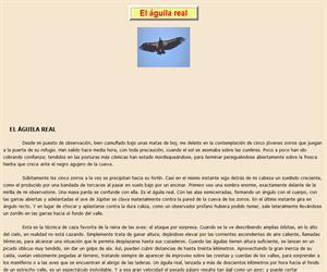 El águila real, lectura comprensiva interactiva