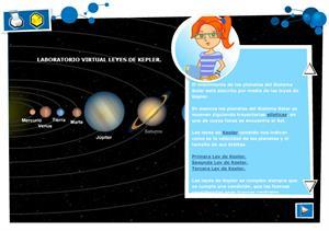 Laboratorio virtual Leyes de Kepler. Física y Química para 4º de Secundaria