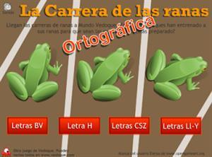 La ortográfica carrera de las ranas (vedoque.com)