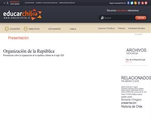 Organización de la República (Educarchile)