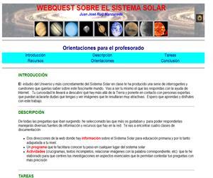 Webquest sobre el sistema solar