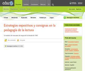 Estrategias expositivas y consignas en la pedagogía de la lectura