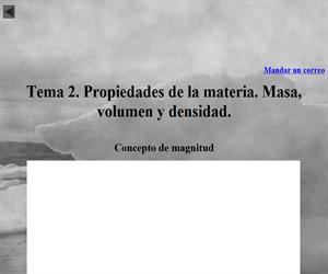Propiedades de la materia. Masa, volumen y densidad.