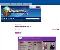 Yahoo! cierra del.icio.us (Genbeta)